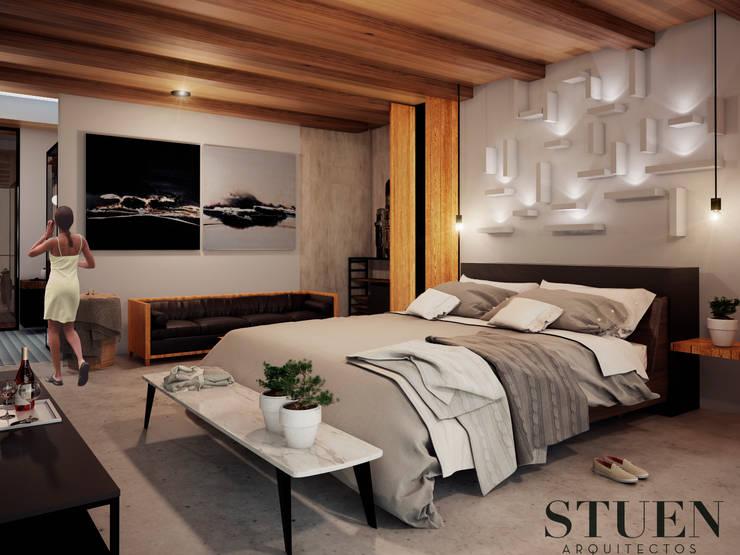 Cuartos de estilo  por Stuen Arquitectos