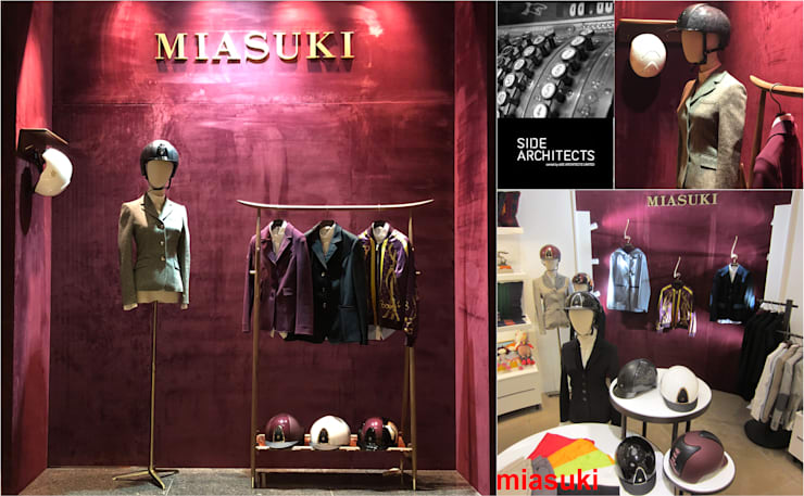 Miasuki: modern  by siDE Architects Ltd., Modern Textile Amber/Gold