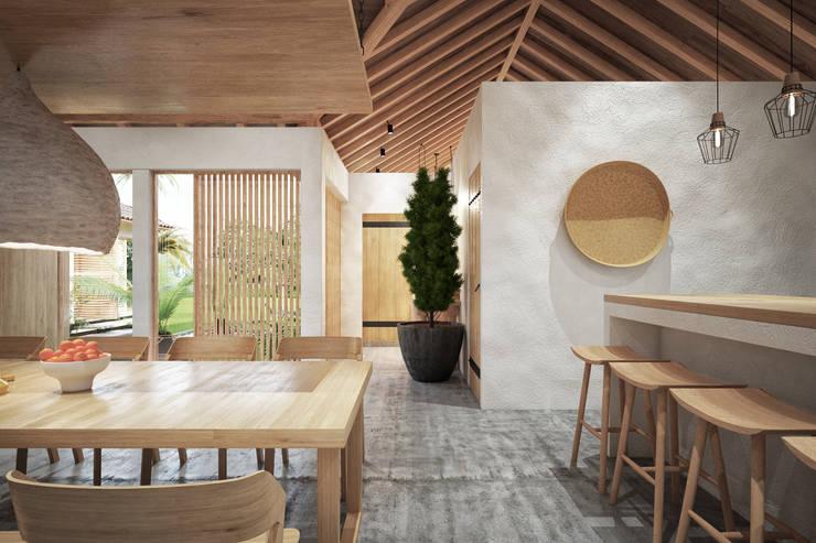 casa principal hotel miraflores san andres: Hoteles de estilo  por Adrede Diseño