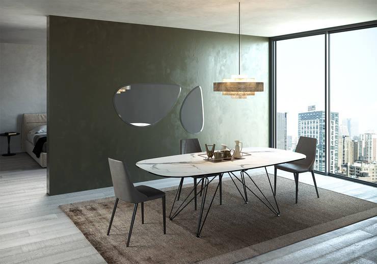 Tavolo CROSS fisso in CRLAM, sedia VICTORIA di Nespoli 3d Moderno