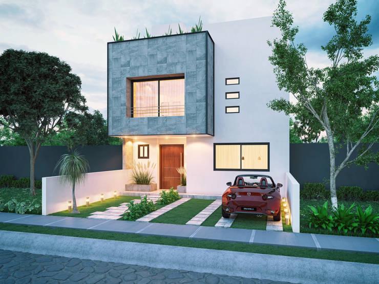 Fachadas de casas peque as ideas para mejorar los dise os for Disenos de fachadas de casas pequenas