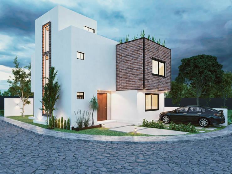 Casas de estilo  por Integra Arquitectos