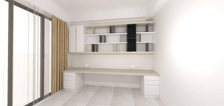 書房3D呈現:   by 圓方空間設計