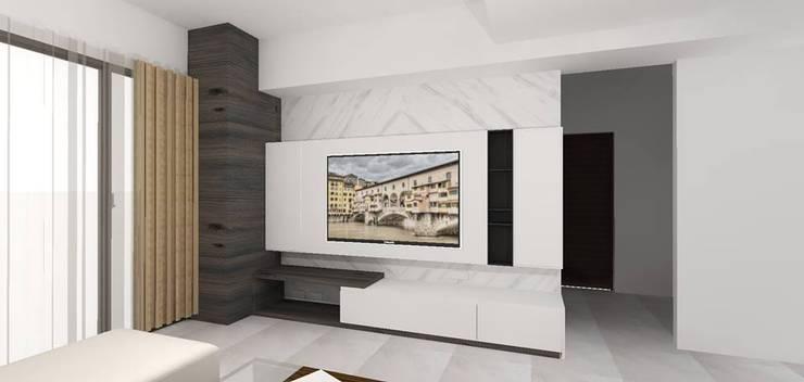 客廳3D圖呈現:   by 圓方空間設計