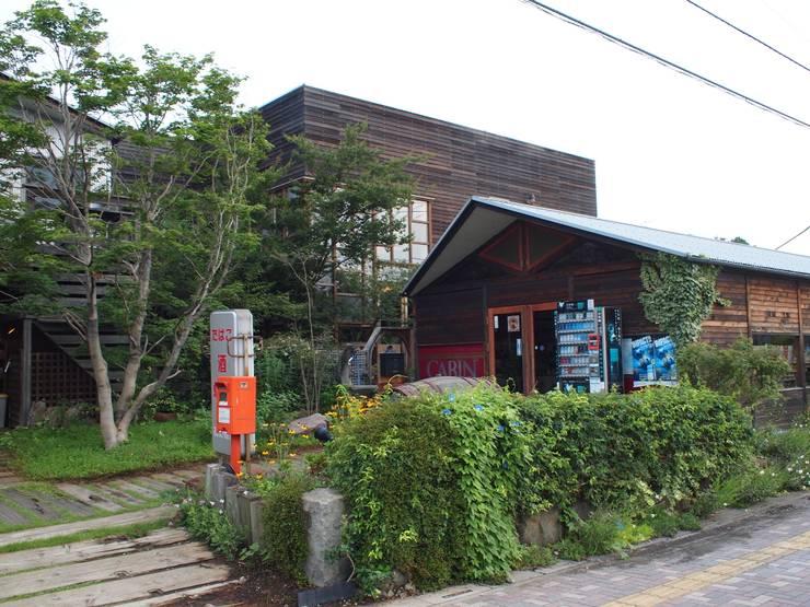 外観 レッドシダー: 株式会社高野設計工房が手掛けた木造住宅です。