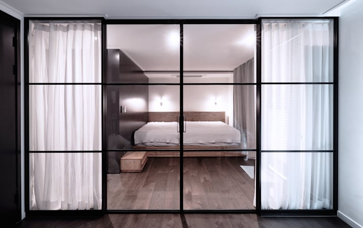 침실: WITHJIS(위드지스)의  침실,모던 알루미늄 / 아연