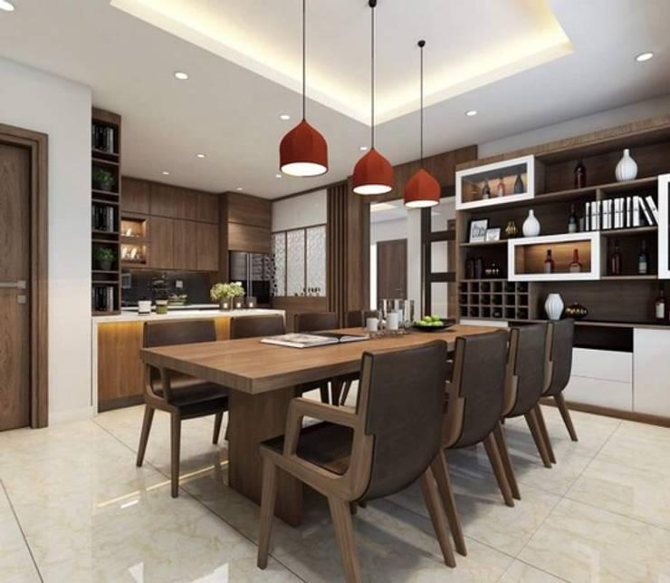 Không gian bếp và phòng ăn:  Phòng ăn by Công ty TNHH Thiết Kế Xây Dựng Song Phát