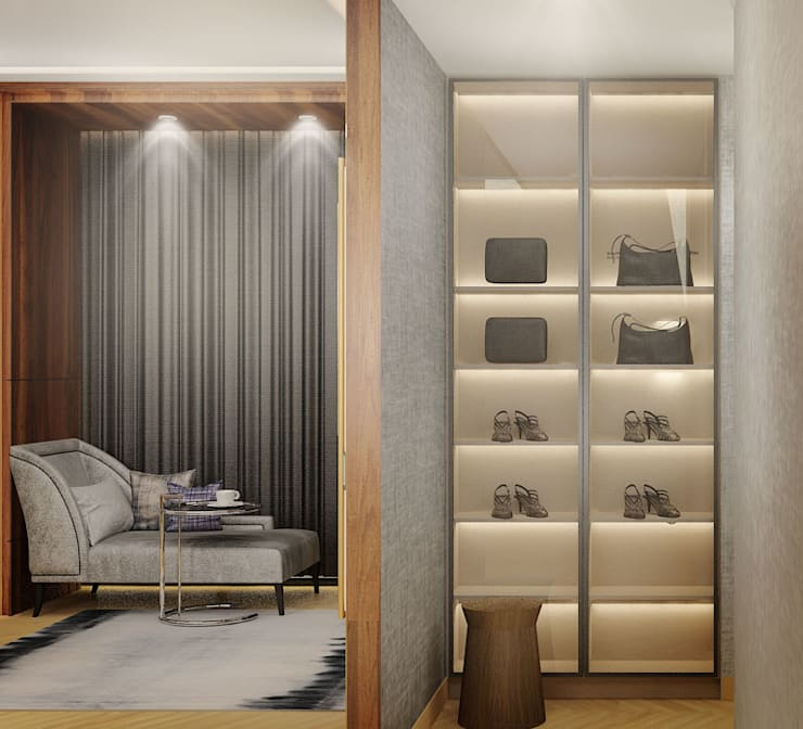 Walk-in Wardrobe:  Kamar Tidur by Co+in Collaborative Lab