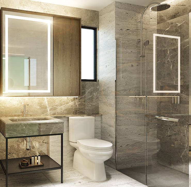 Masterbathroom:  Kamar Mandi by Co+in Collaborative Lab