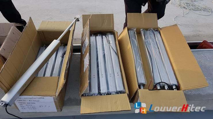 採用 KST-A01 系列馬達內藏式電動推桿:  體育館 by Soon Industrial Co., Ltd.