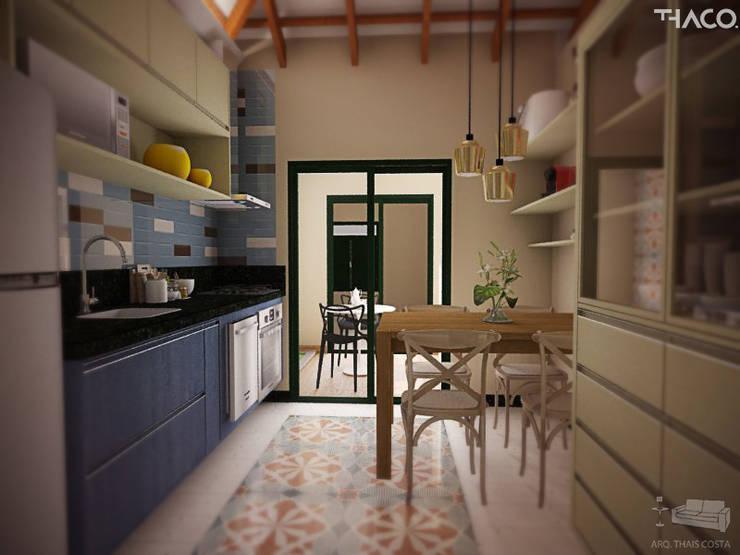 COZINHA: Cozinhas  por THACO. Arquitetura e Ambientes
