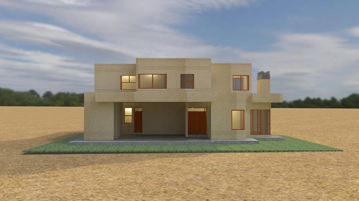 Rendering Casa AL:  de estilo  por Clara Correas Arquitecta,