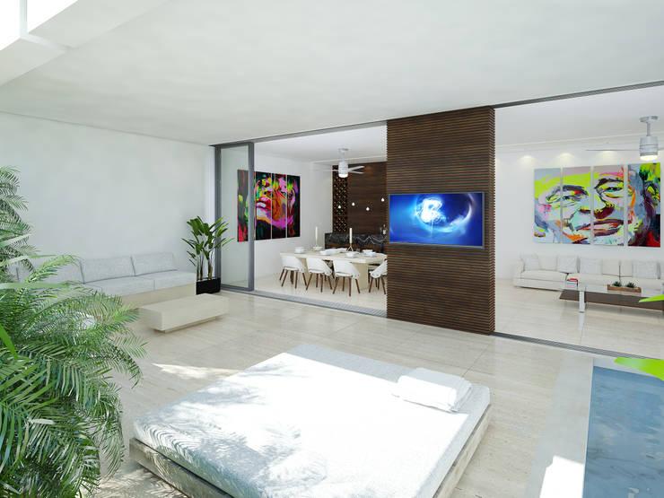 terraza:  de estilo  por Daniel Cota Arquitectura | Despacho de arquitectos | Cancún