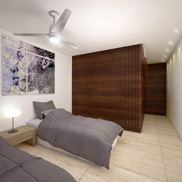 recmara 2:  de estilo  por Daniel Cota Arquitectura | Despacho de arquitectos | Cancún