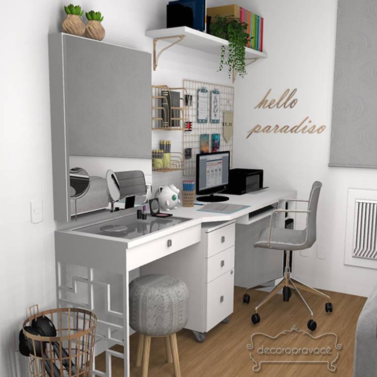 Home Office: Escritórios  por Decoropravocê - Decoração ao seu alcance.
