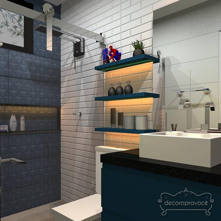Baños de estilo  por Decoropravocê - Decoração ao seu alcance.