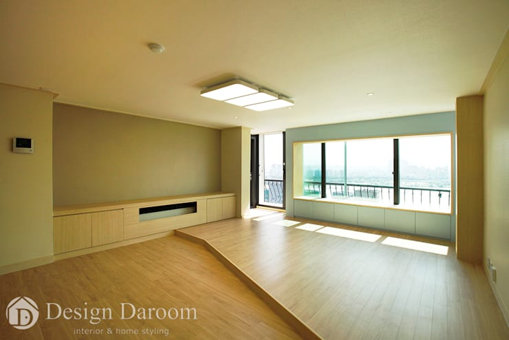 워커힐 아파트 56py 거실: Design Daroom 디자인다룸의  거실