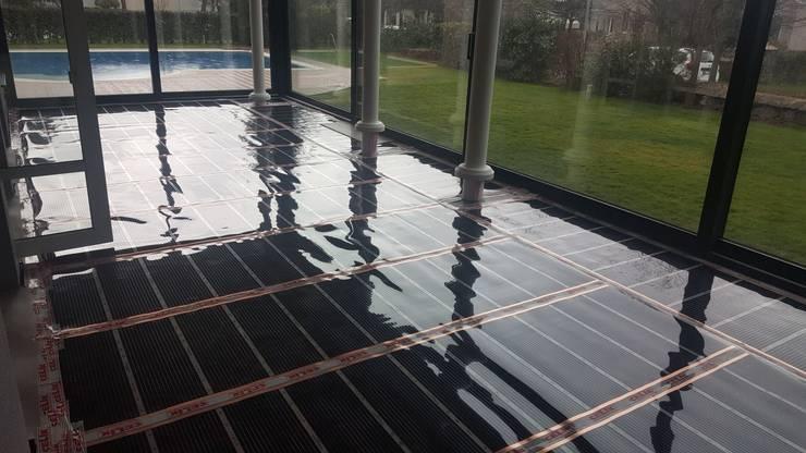 Karbonik ısıtma sistemleri – Kış bahçesi zeminden ısıtma   Çekmeköy İstanbul:  tarz