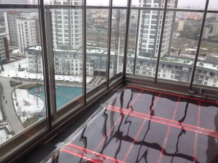 Karbonik ısıtma sistemleri – Kapalı balkon ısıtma sistemi:  tarz Zeminler