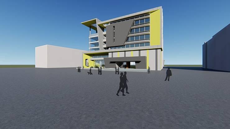 辦公室新建案:  辦公大樓 by 尋樸建築師事務所