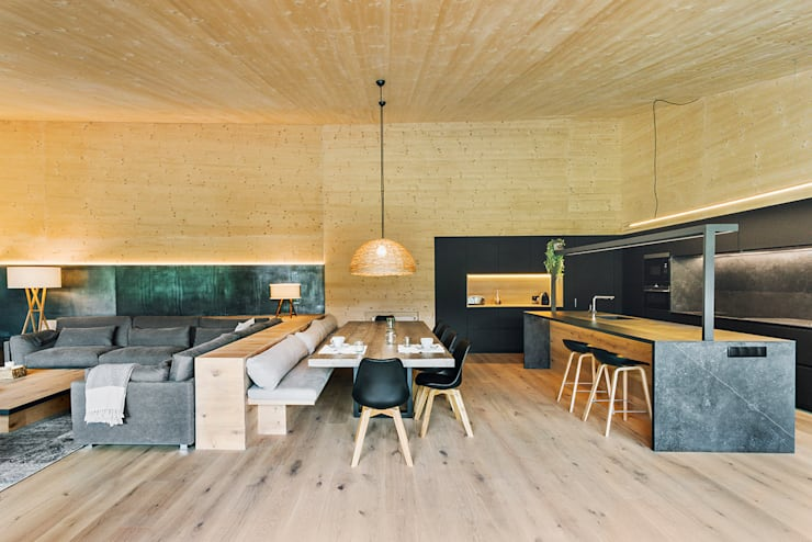 Dining room by dom arquitectura, Modern