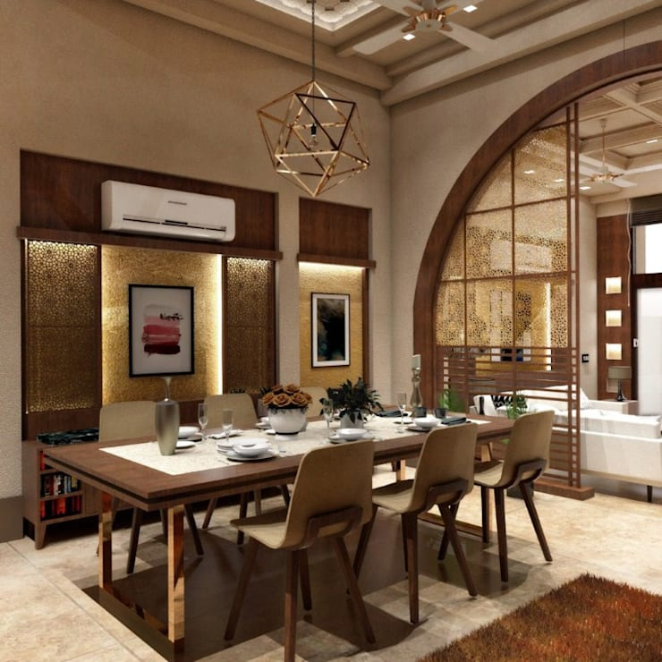 Dining Room:  Dining room by Chaukor Studio