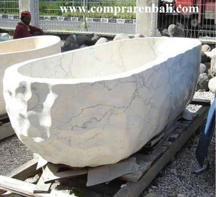 Bañeras de Fabricación Artesanal:  de estilo tropical de comprar en bali, Tropical