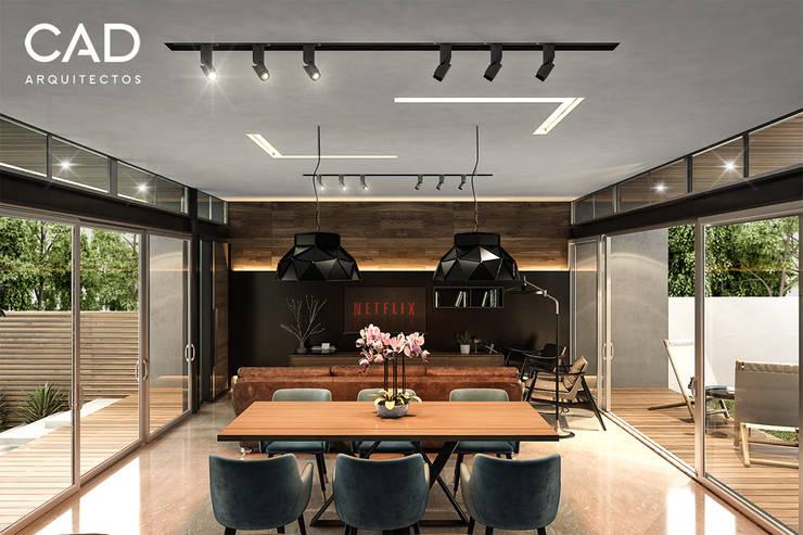 Interior loft: Salas de estilo  por CAD Arquitectos