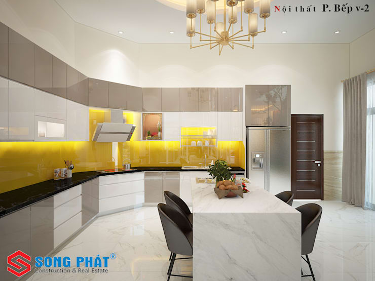 Kitchen units by Công ty Thiết Kế Xây Dựng Song Phát, Asian