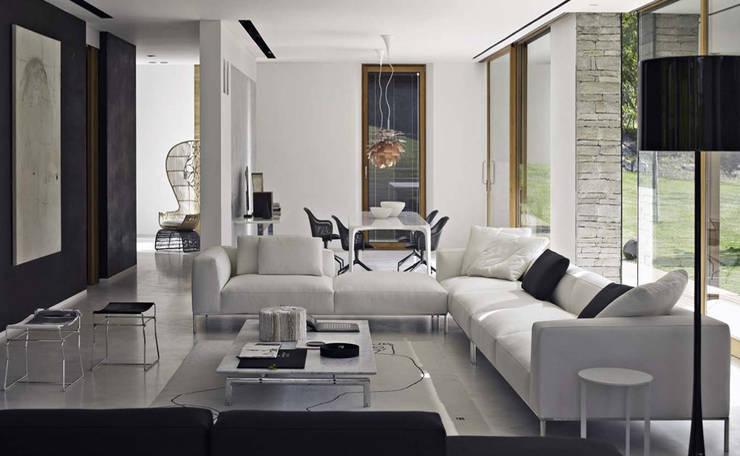 B&B ITALIA家具意大利高端家具,創造非凡藝術:  客廳 by 北京恒邦信大国际贸易有限公司