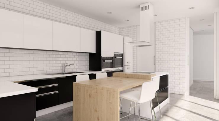 Cocina: Cocinas de estilo  de A3D INFOGRAFIA