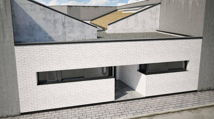 Fachada: Casas unifamilares de estilo  de A3D INFOGRAFIA