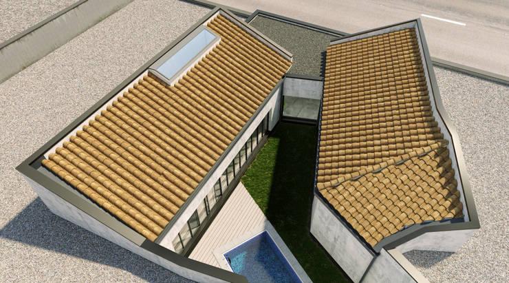Sistema de cubiertas: Casas unifamilares de estilo  de A3D INFOGRAFIA