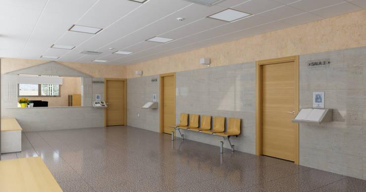 Hall _ vista 2: Pasillos y vestíbulos de estilo  de A3D INFOGRAFIA