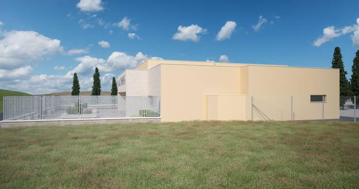 Fachada lateral: Casas multifamiliares de estilo  de A3D INFOGRAFIA