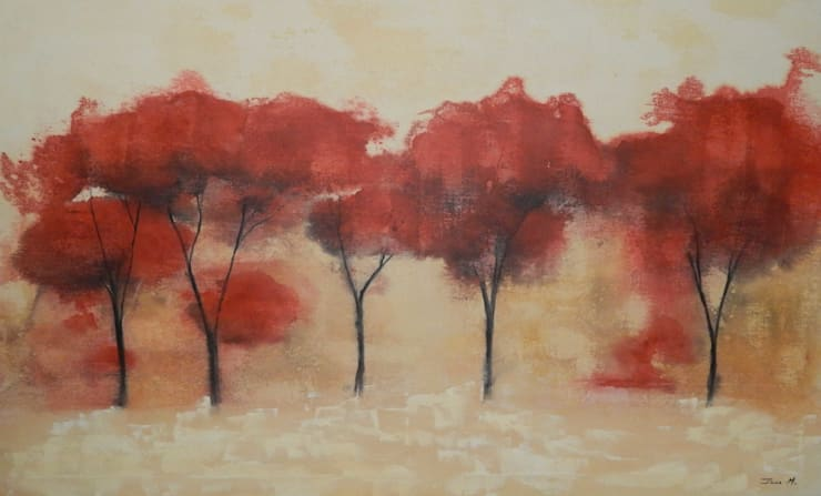 Paesaggio autunnale: Arte in stile  di Meraki di Irene Mancini