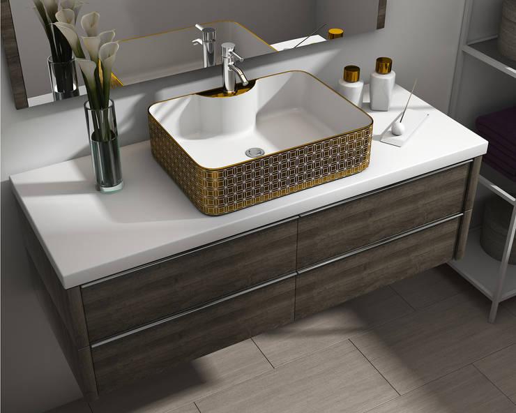 Render Producto Baño: Baños de estilo  por Arqed,