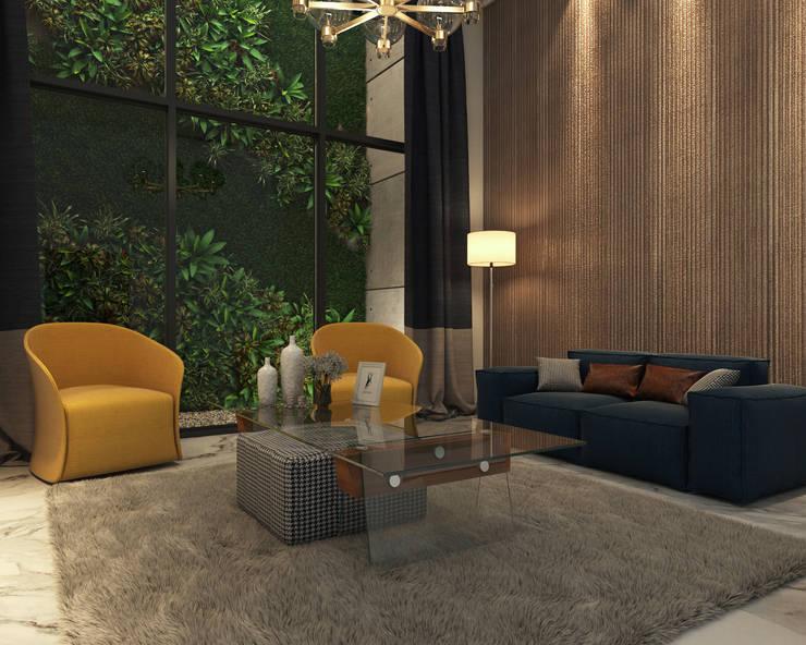 Diseño Living: Livings de estilo  por Arqed,