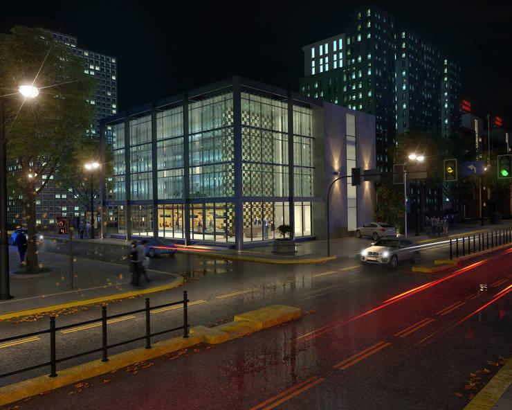 Render edificio: Estancias de estilo  por Arqed,Moderno Vidrio