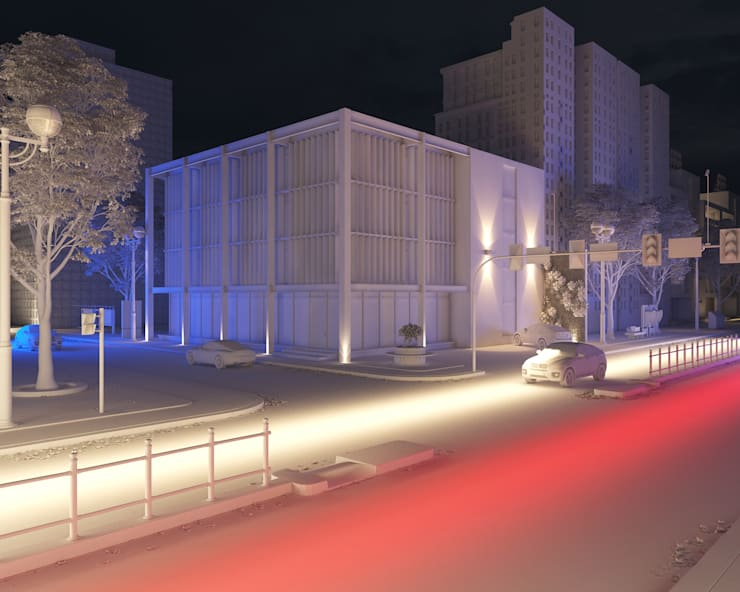 Render edificio: Estancias de estilo  por Arqed,Moderno Tableros de virutas orientadas