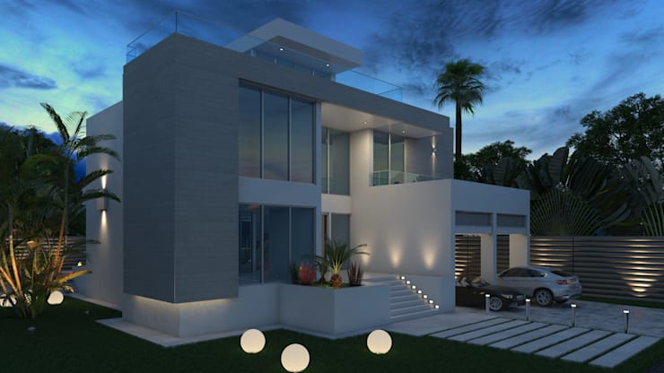 Fachada Principal: Casas de estilo  por Arqed,