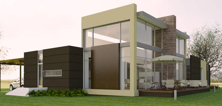 Vivienda campestre: Casas de estilo  por IAA LTDA, Minimalista