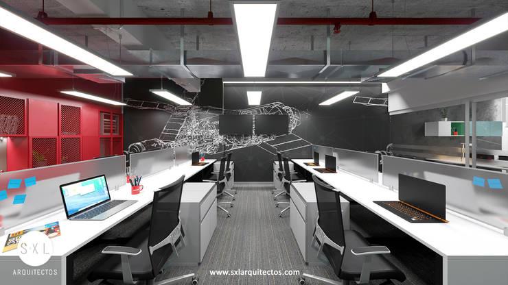Área de trabajo de SXL ARQUITECTOS Moderno Aglomerado