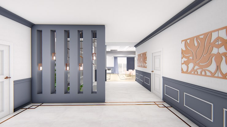 Diseño interior - Vivienda Unifamiliar: Comedores de estilo  por Triad Group,Clásico Compuestos de madera y plástico