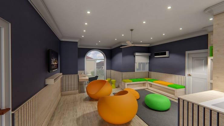 Diseño interior - Vivienda Unifamiliar: Dormitorios de estilo  por Triad Group,Clásico Concreto reforzado