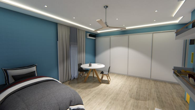 Diseño interior - Vivienda Unifamiliar: Dormitorios de estilo  por Triad Group,Clásico Compuestos de madera y plástico