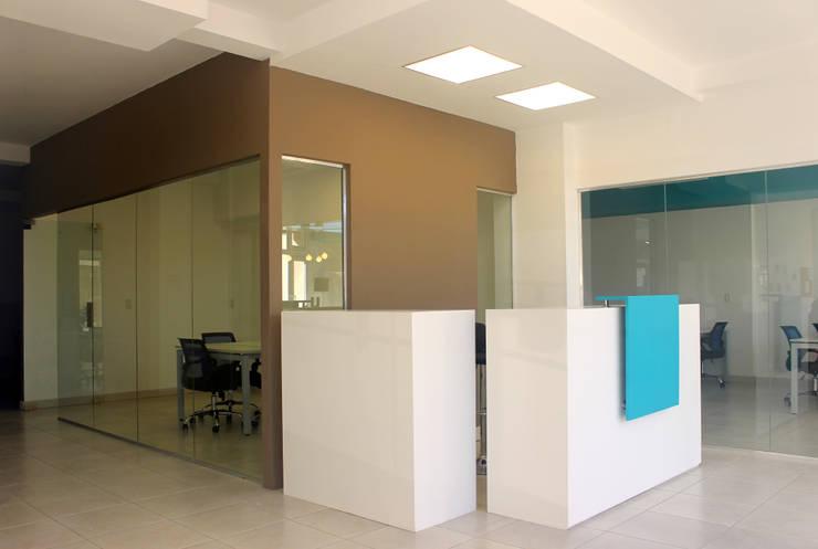 PROYECTO DE REMODELACIÓN INTERIOR: Oficinas y Tiendas de estilo  por Triad Group,
