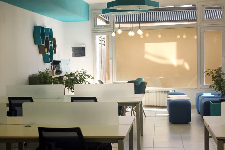 PROYECTO DE REMODELACIÓN INTERIOR: Oficinas y Tiendas de estilo  por Triad Group