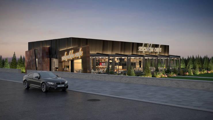 Dündar Design - Mimari Görselleştirme – Kafe - Dış Mekan:  tarz Yemek Odası