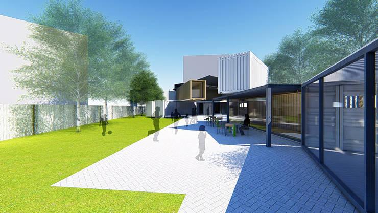 滑步車親子園區:  商業空間 by 尋樸建築師事務所